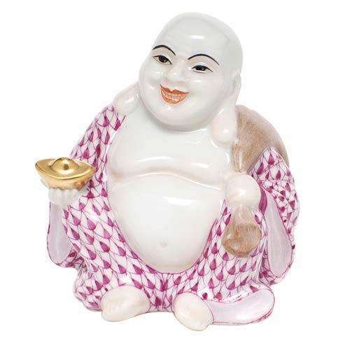 Small Laughing Buddha - Raspberry