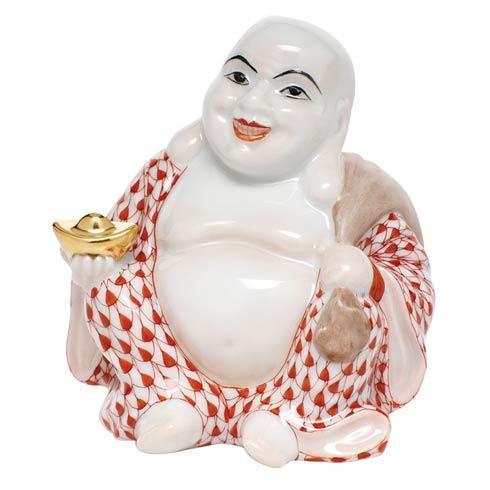 Small Laughing Buddha - Rust
