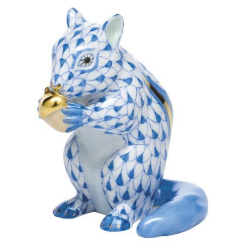Chipmunk with Acorn - Blue