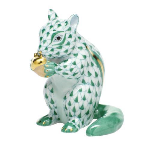 Chipmunk with Acorn - Green
