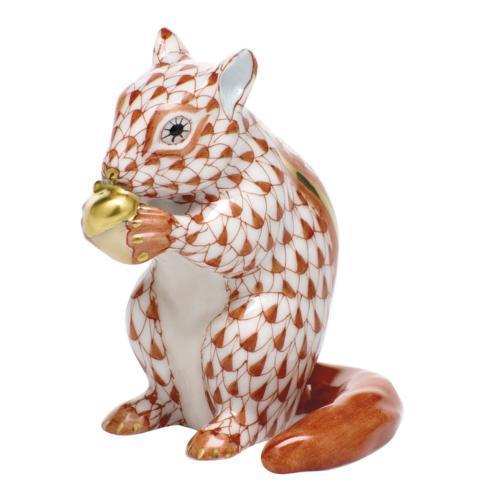 Chipmunk with Acorn - Rust