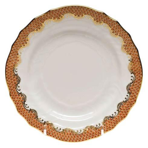 Fish Scale Rust Bread & Butter Plate - Rust