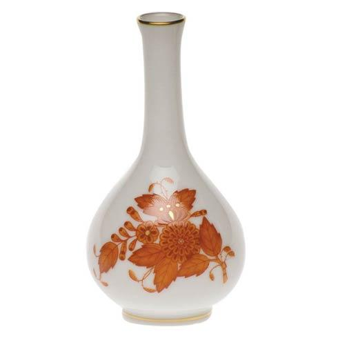Chinese Bouquet Rust Bud Vase