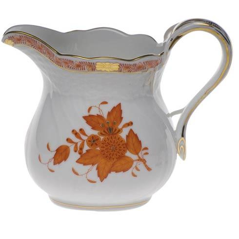Chinese Bouquet Rust Milk Pitcher