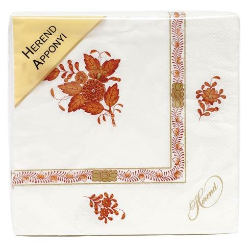 Chinese Bouquet Rust Napkin - Rust