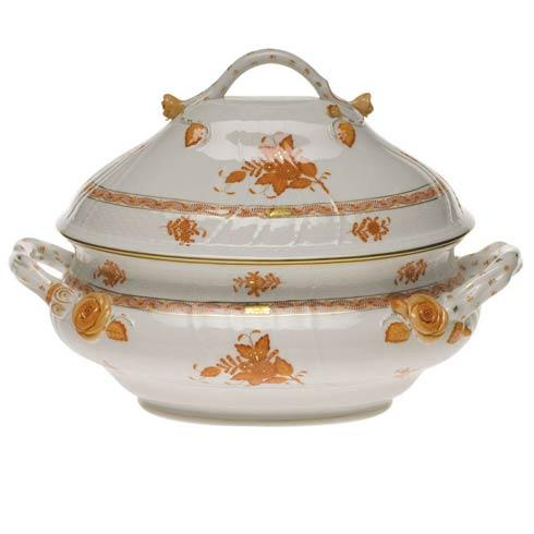 Chinese Bouquet Rust Tureen W/Branch