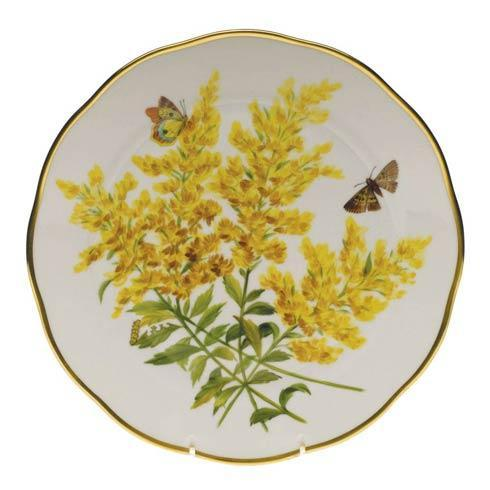 American Wildflowers Tall Goldenrod Dinner Plate