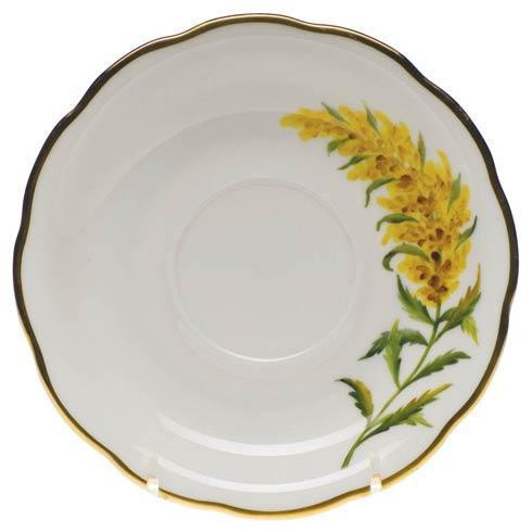 American Wildflowers Tall Goldenrod Tea Saucer