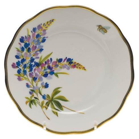 American Wildflowers Texas Bluebonnet Bread & Butter Plate