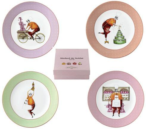Chez Honore Gift Box Of 4 Assorted Dessert Plates