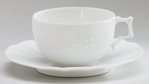 Corail White Coffee Cup And Saucer