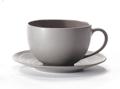 Escale Grey Breakfast Cup And Saucer