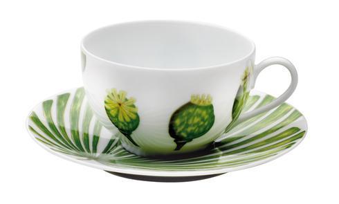 Ikebana Tea Cup And Saucer