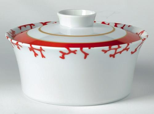 Cristobal Coral Covered Vegetable Dish