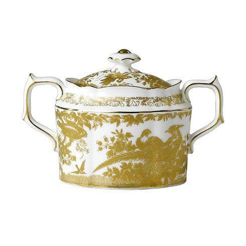 Aves Gold Covered Sugar Bowl