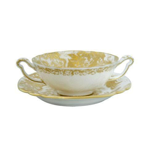 Aves Gold Cream Soup Cup Stand