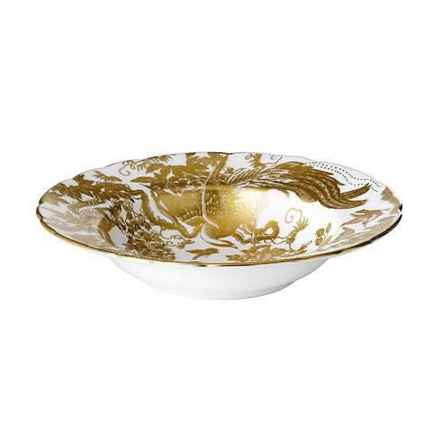 Aves Gold Rim Soup Plate