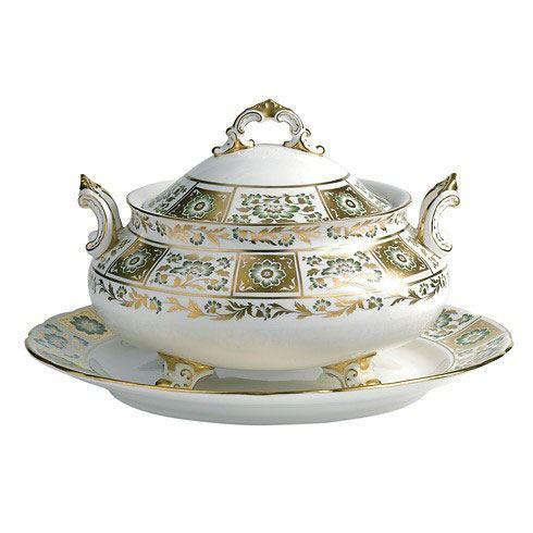 Derby Panel Green Soup Tureen and Cover