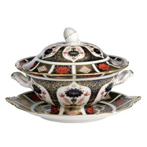 Old Imari Gift Boxed Soup Tureen and Cover