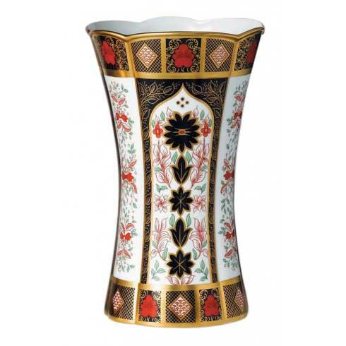 Old Imari Solid Gold Band Gift Boxed Column Vase