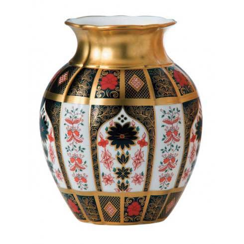Old Imari Solid Gold Band Gift Boxed Tulip Vase