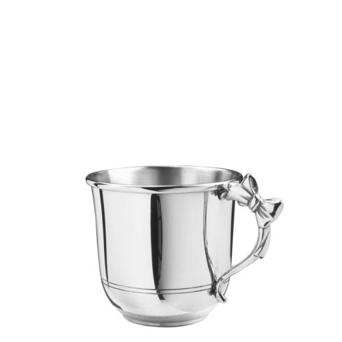 Pewter Baby Bow Handle Baby Cup, 5 oz.