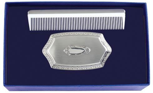 Pewter Baby Boy's Embossed Brush & Comb Gift Set