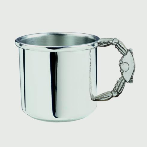 Pewter Baby Crab Handle Baby Cup