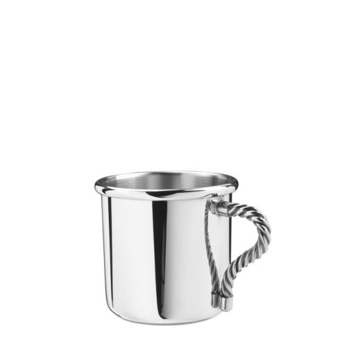 Pewter Baby Rope Handle Baby Cup, 5 oz.