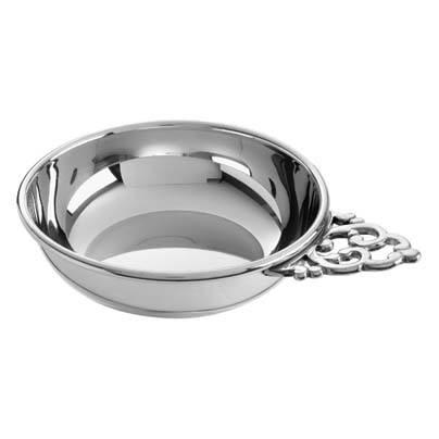 """Pewter Baby Traditional Handle Baby Porringer, 4"""""""