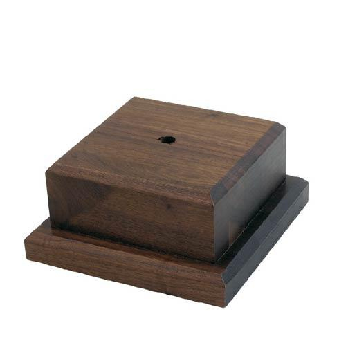 """Trophies Small Wooden Base, 4"""" tall"""