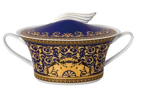 Medusa Blue Vegetable Bowl, Covered