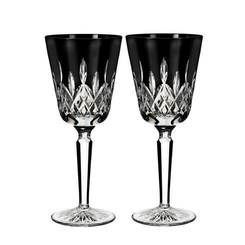 Lismore Black Goblet Set/2