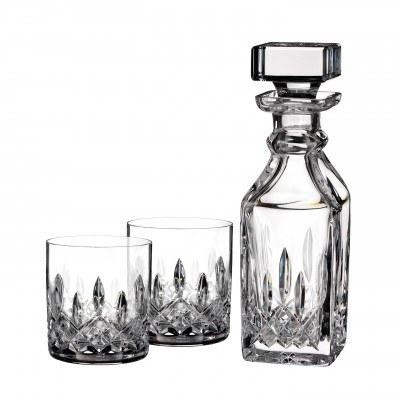Lismore Connoisseur Square Decanter 15.5 OZ & Tumbler 5 OZ Set/2