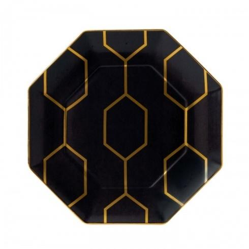 """Arris Accent Plate Octagonal Charcoal 9.1"""""""