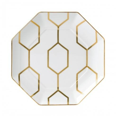 """Arris Accent Plate Octagonal White 9.1"""""""