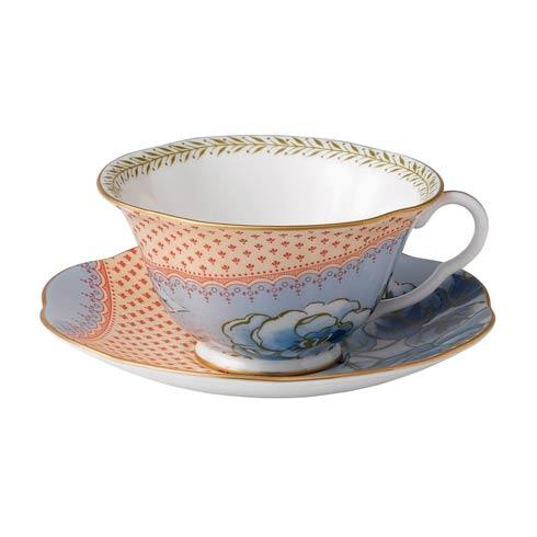 Butterfly Bloom Teacup & Saucer Set Blue Peony