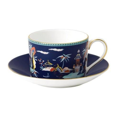 Wonderlust Teacup & Saucer Set Blue Pagoda