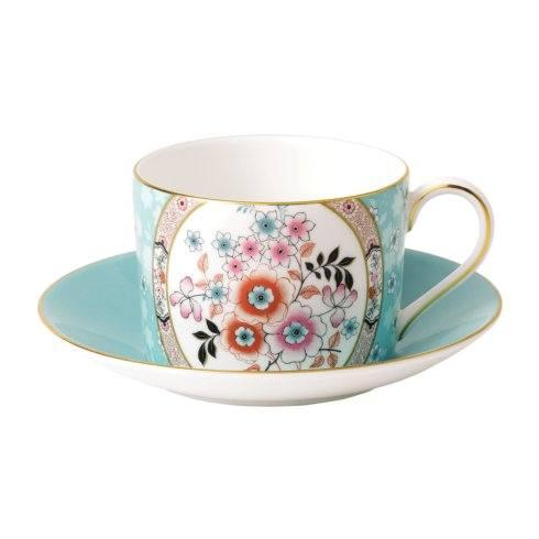 Wonderlust Teacup & Saucer Set Camellia