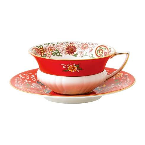 Wonderlust Teacup & Saucer Set Crimson Orient