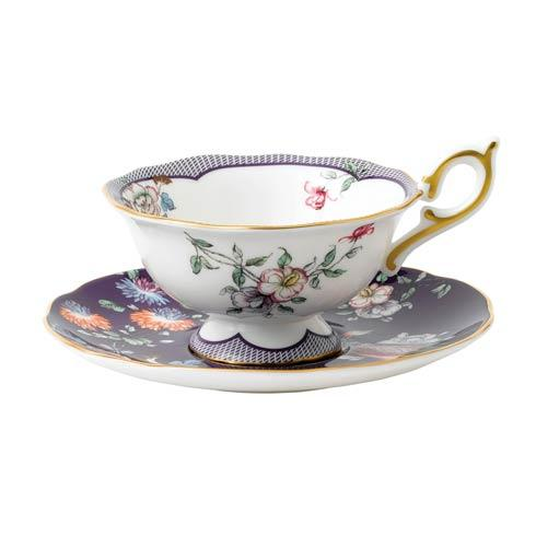 Wonderlust Teacup & Saucer Set Midnight Crane