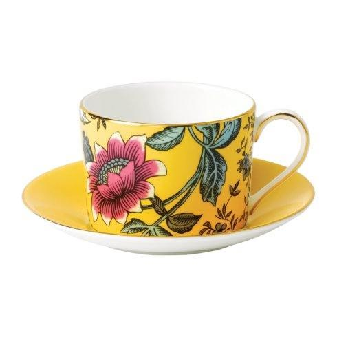 Wonderlust Teacup & Saucer Set Yellow Tonquin