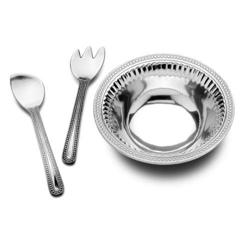 Flutes & Pearls Large 3 pc Salad Set