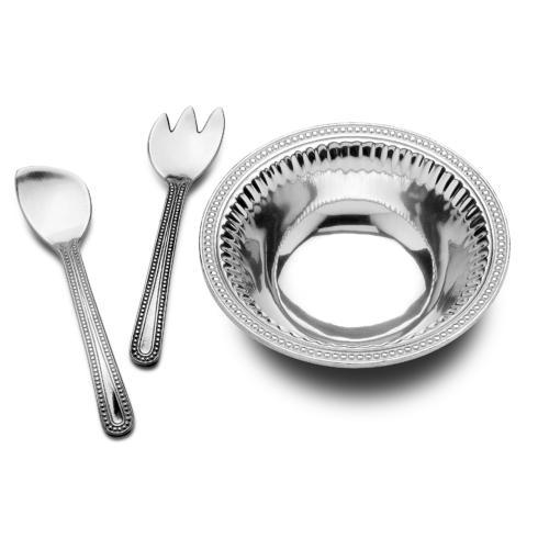 Flutes & Pearls Medium 3 pc Salad Set