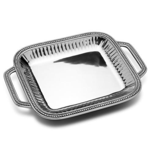 Flutes & Pearls Rectangular Tray with Handles