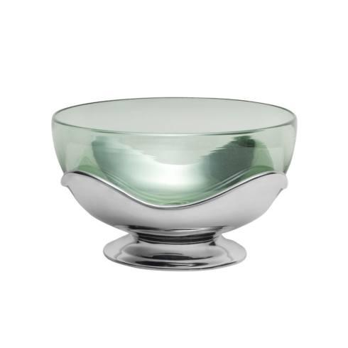 Retro Glass Bowl with Base