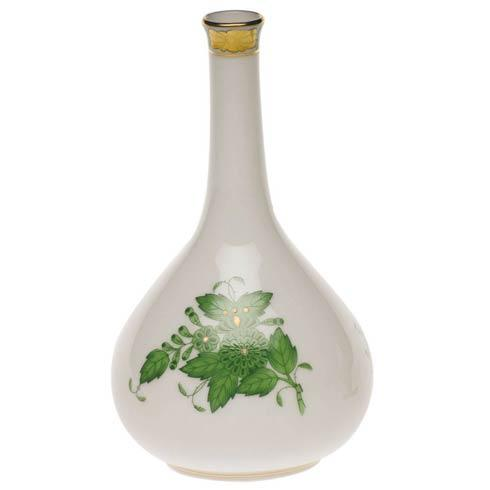 Chinese Bouquet Green Bud Vase - 5.25""
