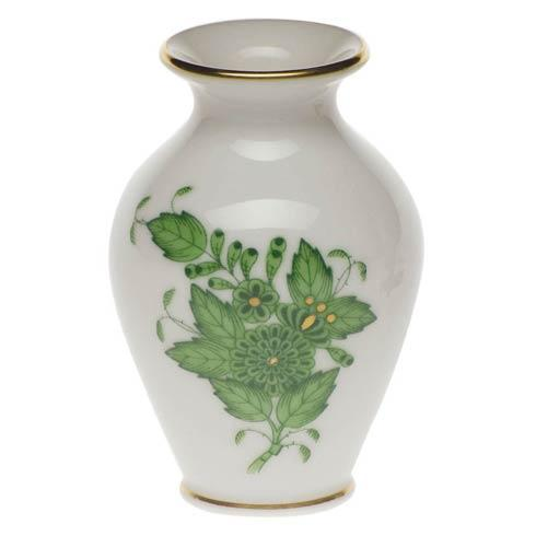 Chinese Bouquet Green Bud Vase - 2.5""