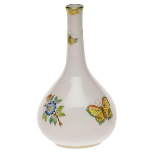 Queen Victoria Green Border Bud Vase - 5.25""