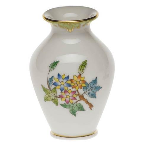 Queen Victoria Green Border Bud Vase - 2.5""